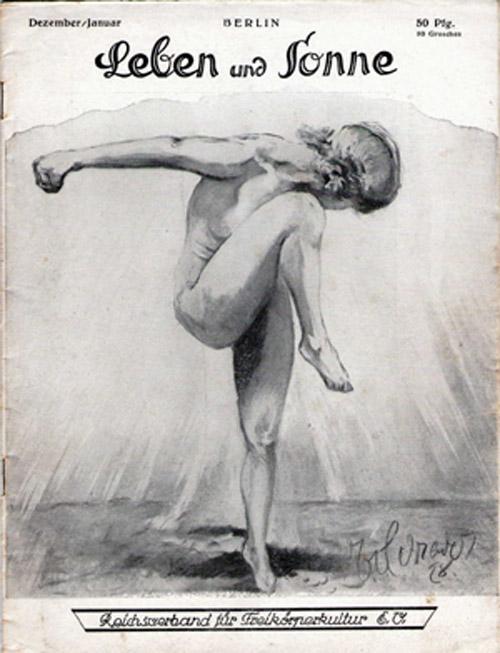 "German Nudist Magazine, 1920s. ""Nudity is a form of dress."""