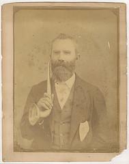 19th century format salt print portrait