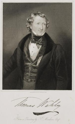 Thomas Wakley, M.D., about 1840. Engraving by W. H. Engleton