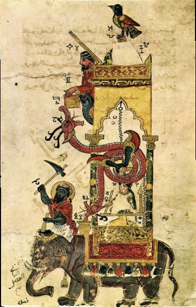 382px-Al-jazari_elephant_clock