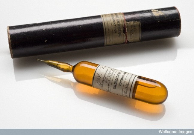 Glass ampoule of liquid chloroform, Paris, France, 1845-1945