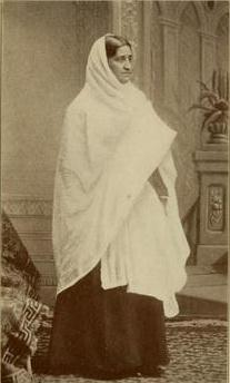 Mrs. Mary Chatterjee, photo taken in America, 1887