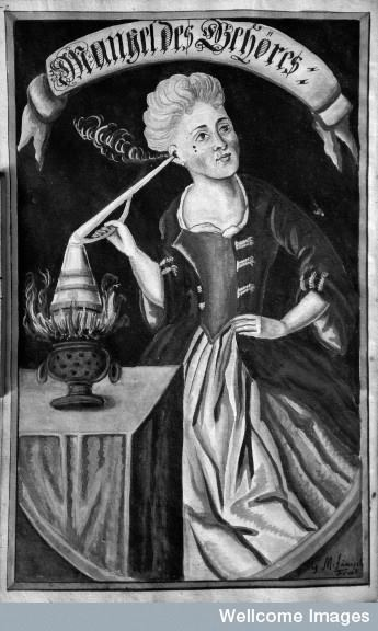 Steam treatment? 17th century painting by G.M. Faenisch
